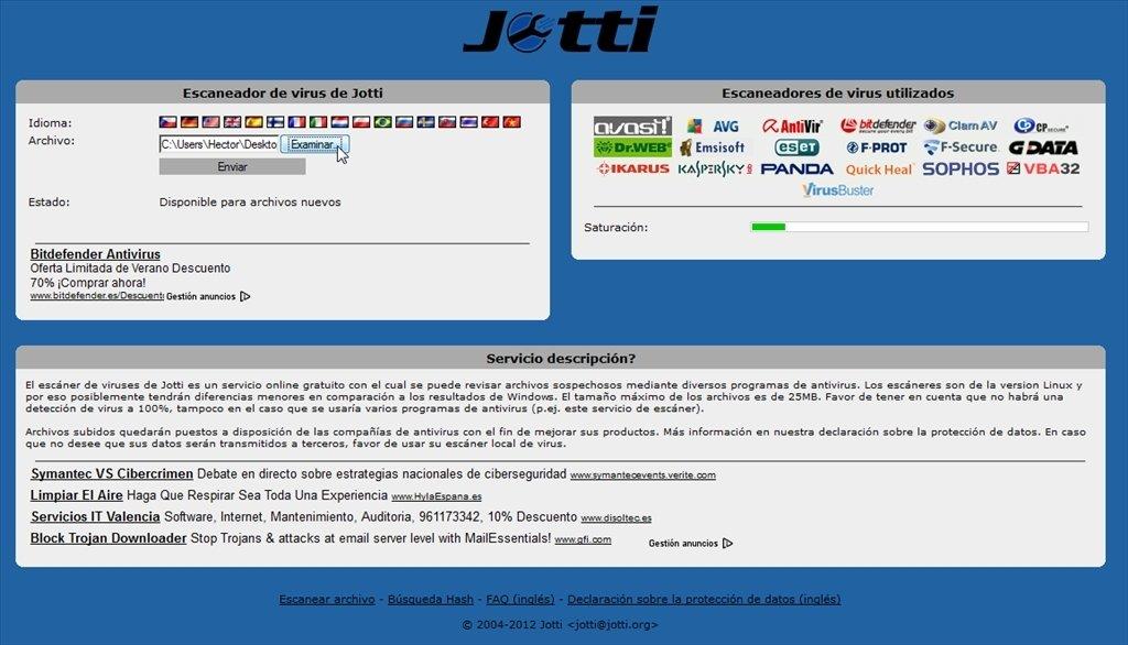 Jotti Webapps image 2