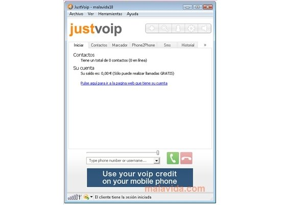 justvoip pour iphone
