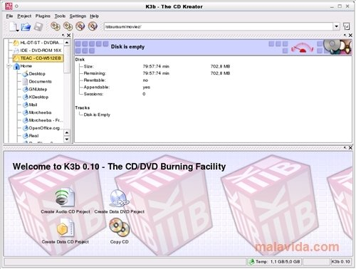 K3b 2 0 2 - Download for Linux Free