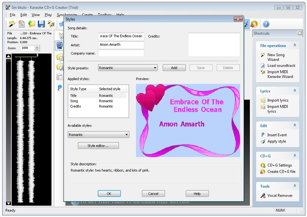 Karaoke CD+G Creator 2 4 19 0 - Download for PC Free
