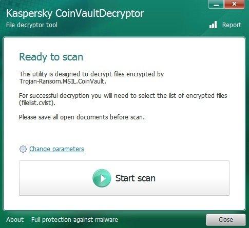 Kaspersky CoinVault Decryptor image 4