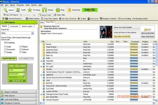 Kazaa Media Desktop 3.2.7