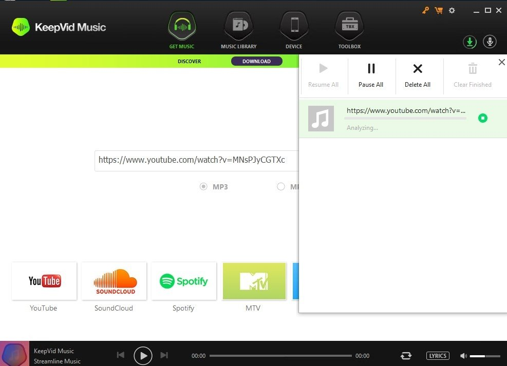 keepvid music player