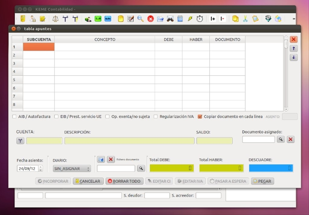 KEME Accountancy Linux image 6