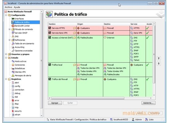 Kerio WinRoute Firewall image 5
