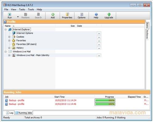 KLS Mail Backup image 4