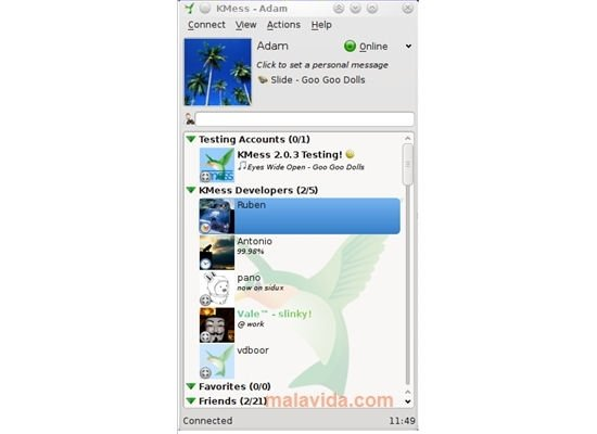 KMess Linux image 4