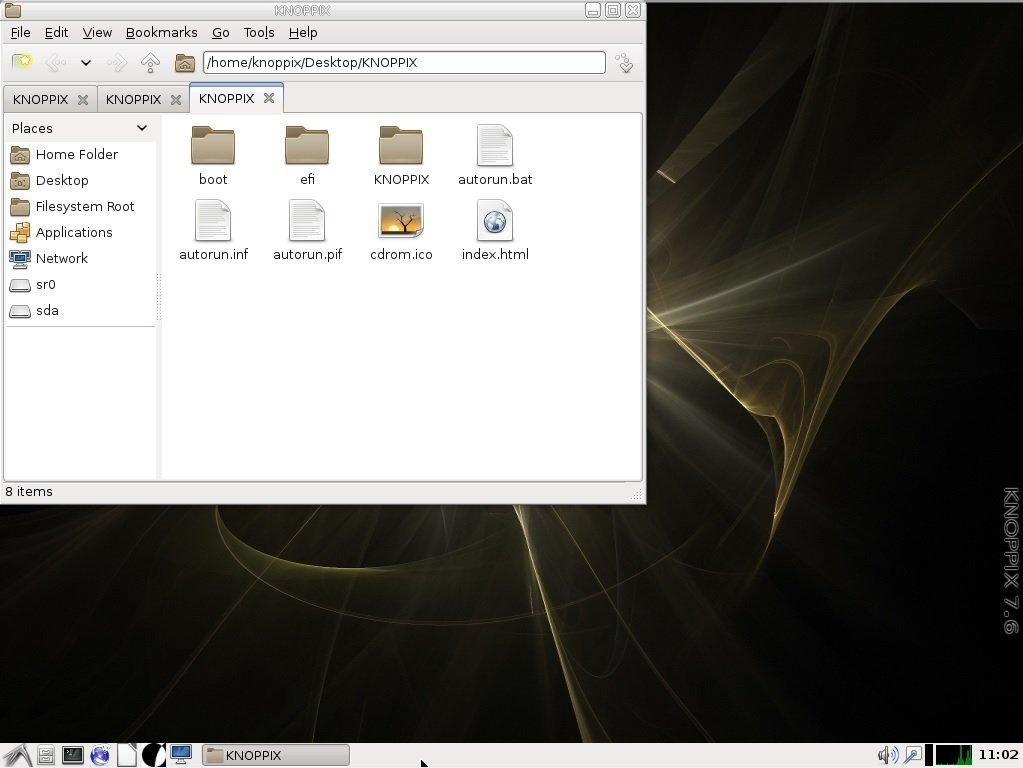 knoppix windows 7