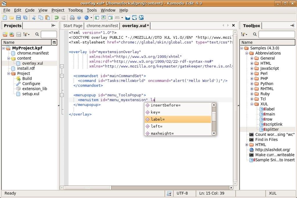 Komodo Edit Linux image 3