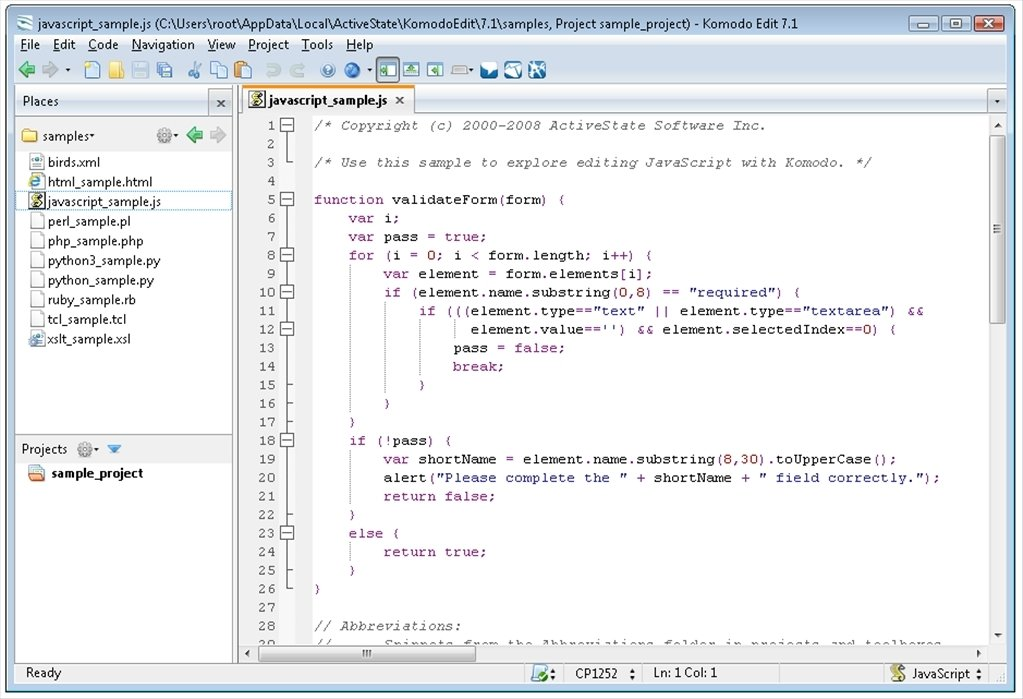 Komodo Edit image 7