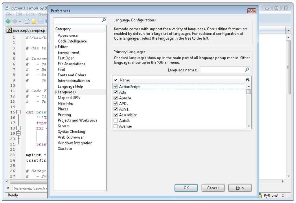 editeur komodo pour windows