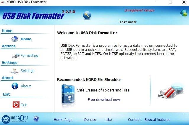 KORO USB Disk Formatter image 3