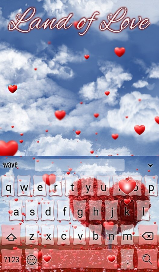 Land of Love Animated Keyboard Android image 5