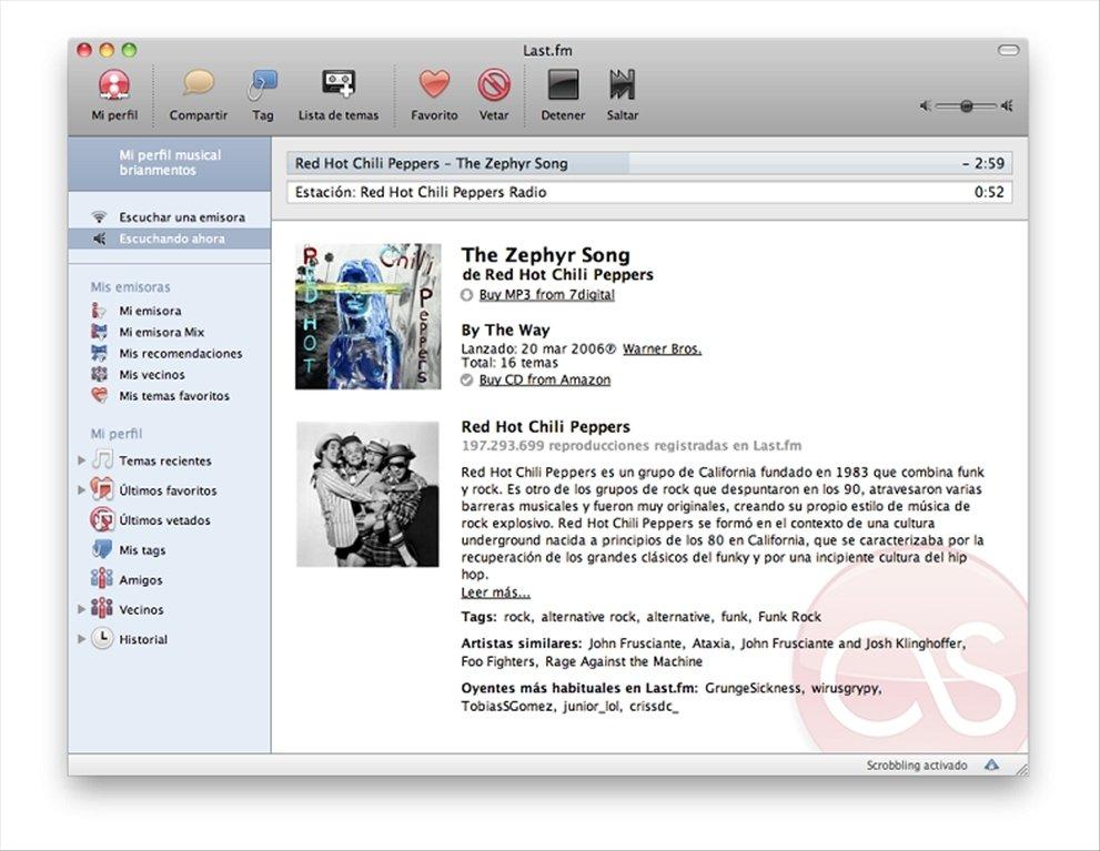 Last.fm Mac image 5
