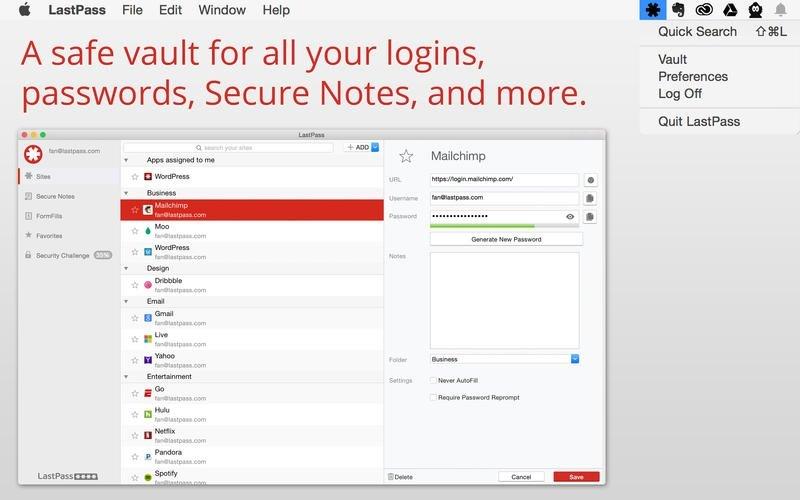 LastPass Mac image 3