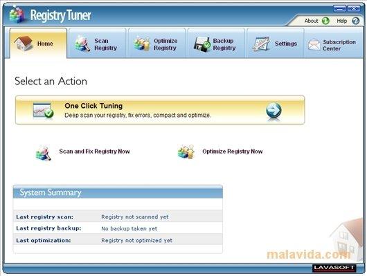 Lavasoft Registry Tuner image 4