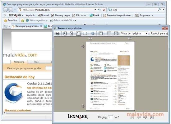 Lexmark Toolbar image 3