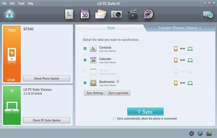 LG PC Suite image 2