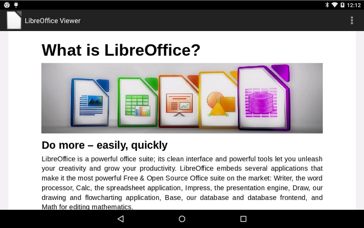 LibreOffice Viewer 6 1 0 0 - Download for Android APK Free