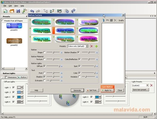 Likno web button maker free 1. 4. 0. 114 screenshot freeware files. Com.