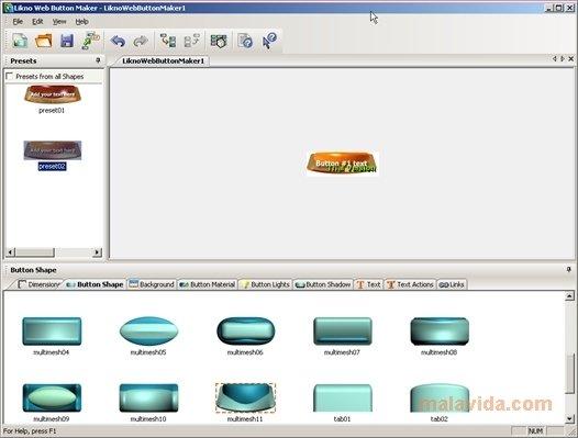 Download web button software: likno web button maker, likno web.