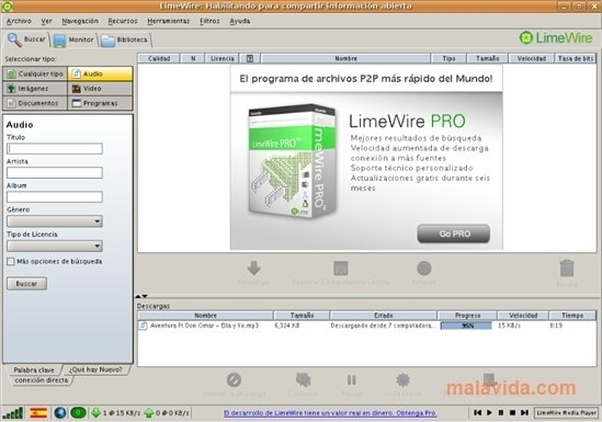 LimeWire Linux image 3