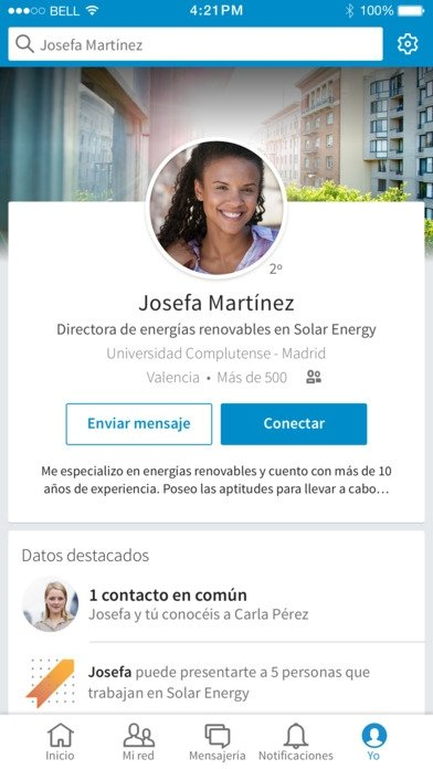 LinkedIn iPhone image 5