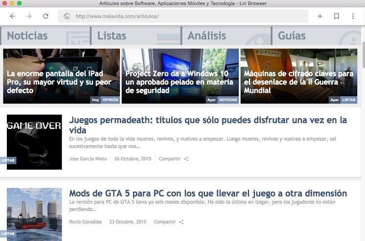 Liri Browser Mac image 6