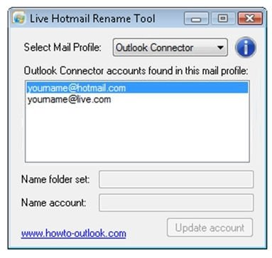 Live Hotmail Rename Tool image 2