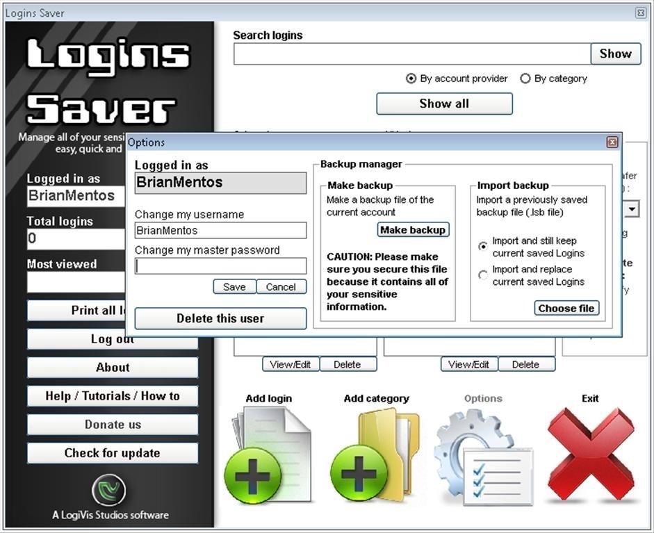 Logins Saver image 4