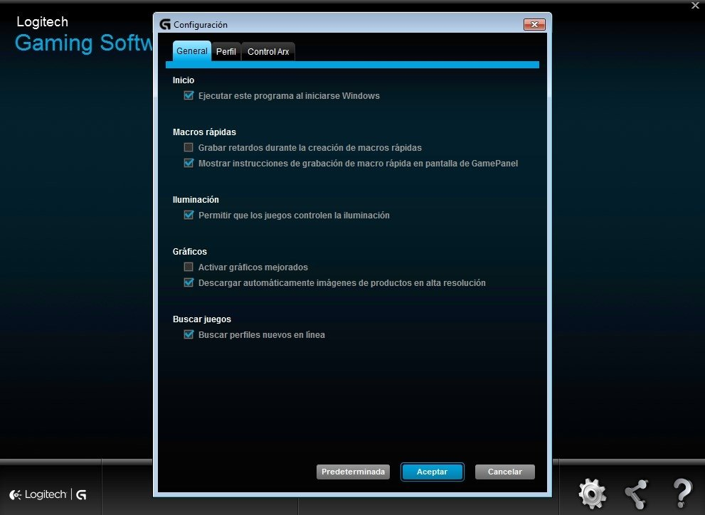 Logitech Gaming Software image 4