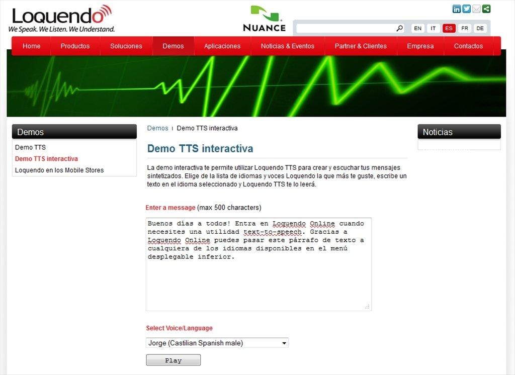 Loquendo Online Webapps image 3
