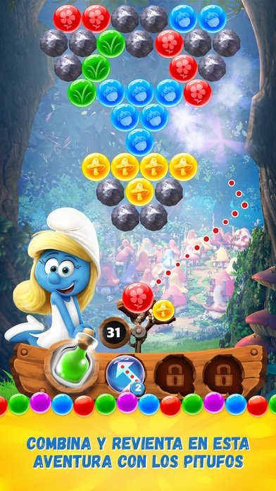 Smurfs Bubble Story iPhone image 5