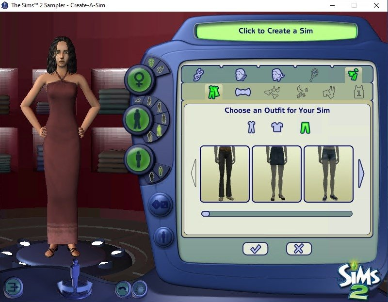 The Sims 2 Create a Sim