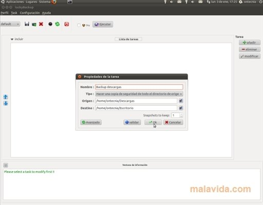 luckyBackup Linux image 4