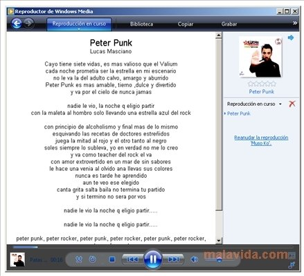Lyrics for Windows Media Player image 3