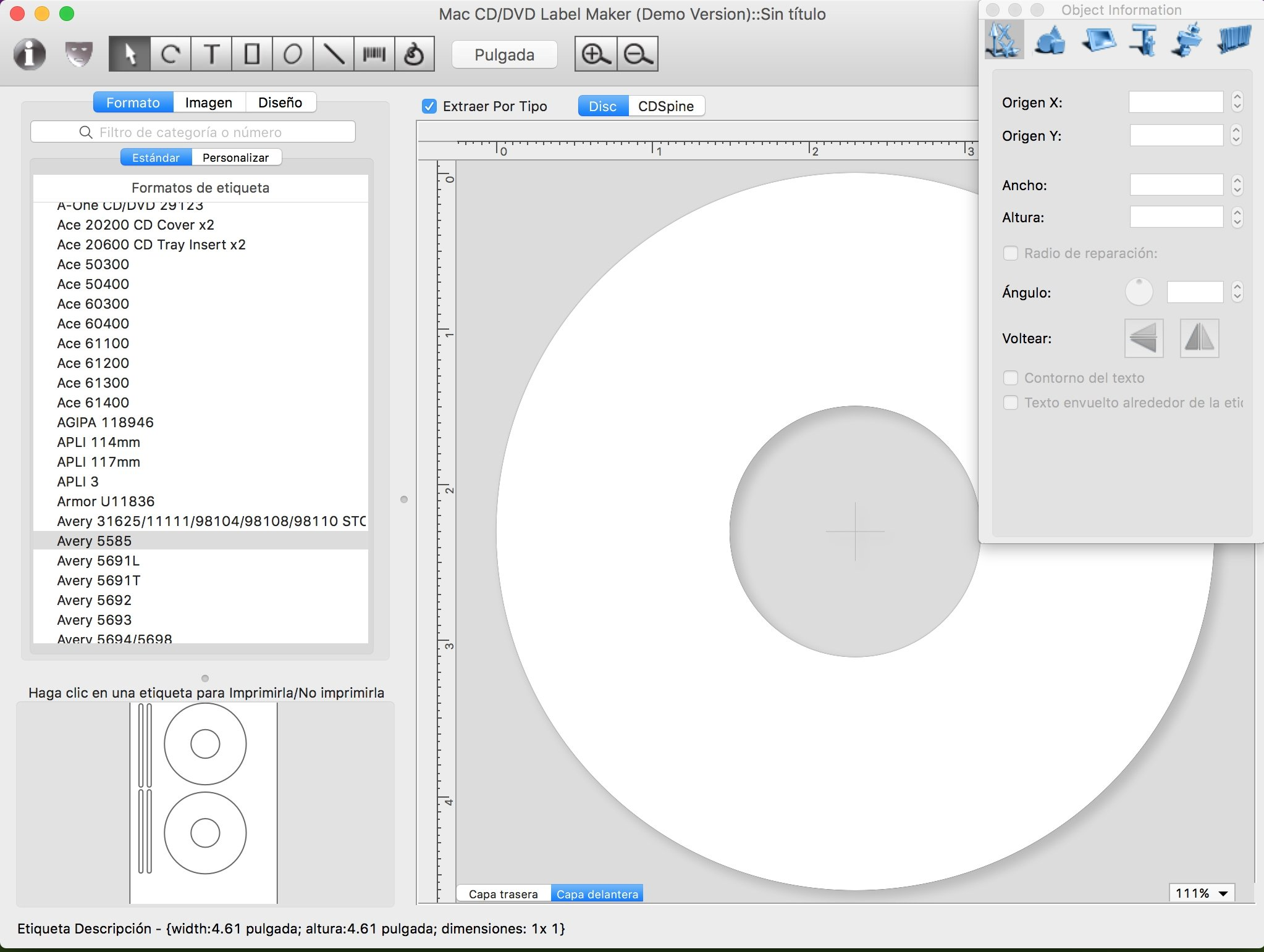 Mac CD/DVD Label Maker 2.4.6 - Descargar Gratis