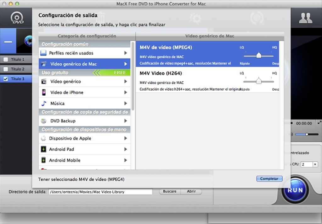 MacX Free DVD to iPhone Converter Mac image 5