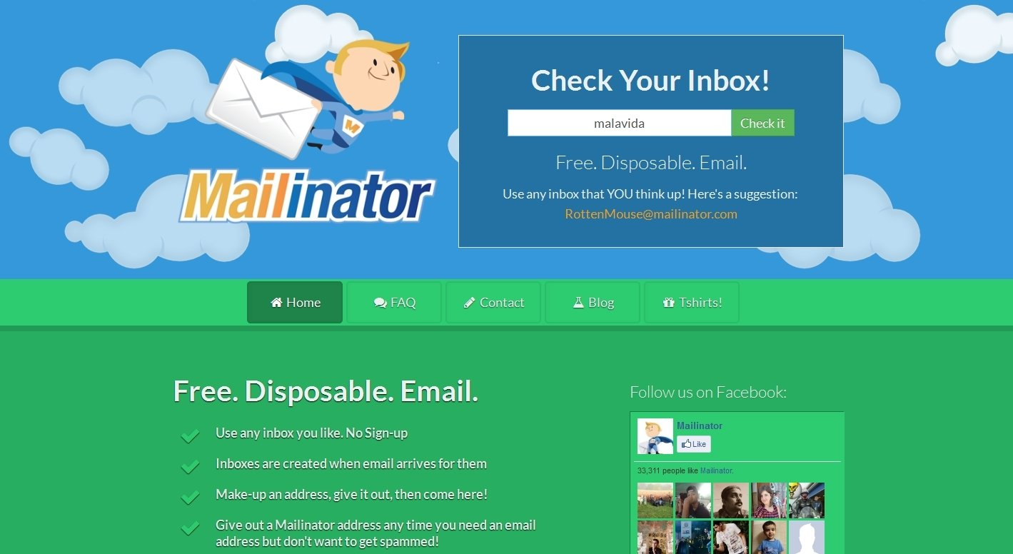 Mailinator Online - Gratis