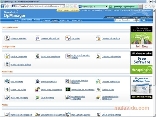 ManageEngine OpManager 12 3 - Download for PC Free