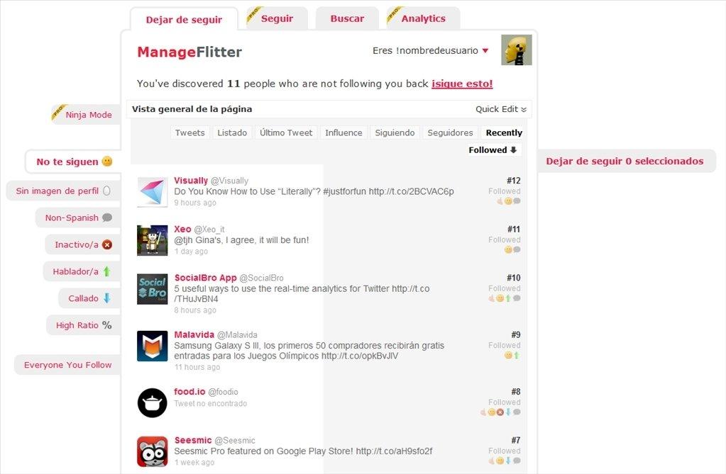 ManageFlitter Webapps image 3