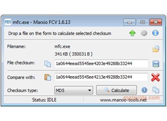 Marxio File Checksum Verifier image 4