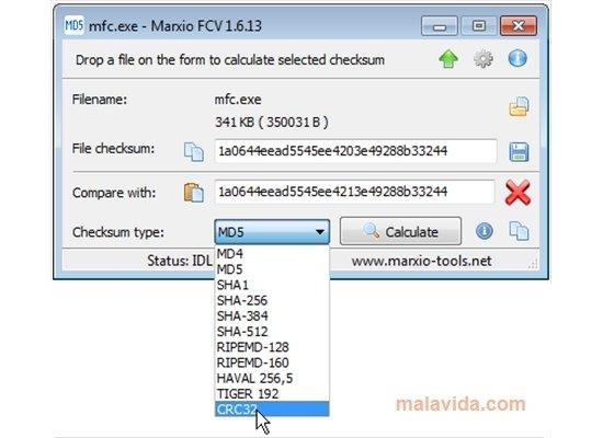 Marxio File Checksum Verifier 1 6 17 - Download for PC Free