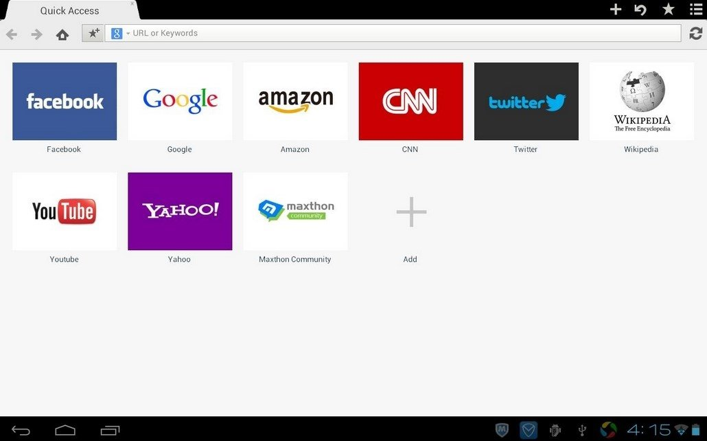 Maxthon Web Browser Android image 5