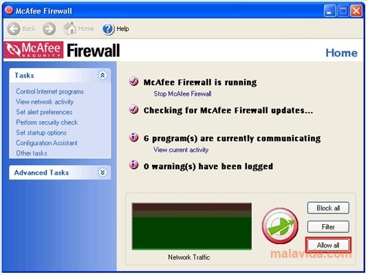McAfee Firewall image 3