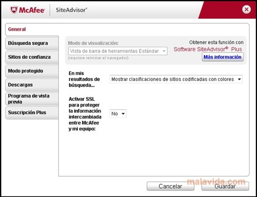 McAfee Site Advisor Internet Explorer image 4