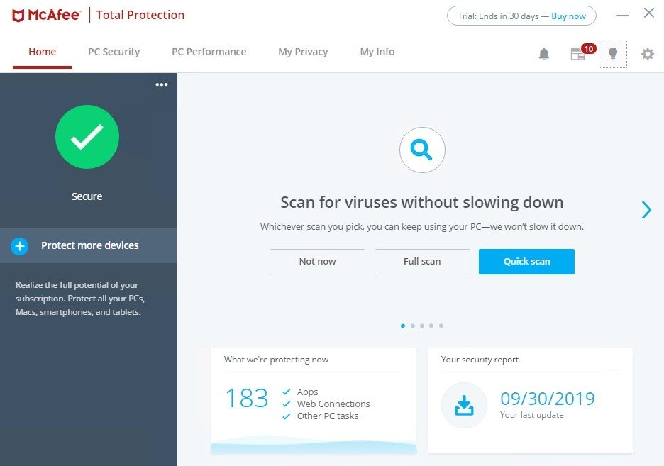 mcafee total protection free download full version