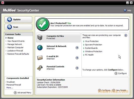 McAfee VirusScan image 5