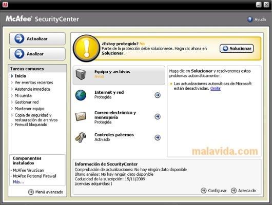 McAfee VirusScan DAT image 2