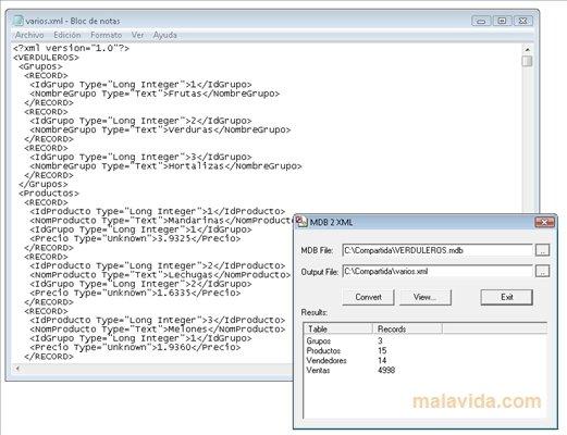 MDB 2 XML image 3